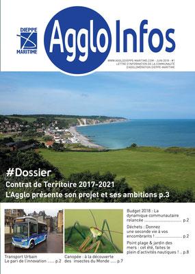 Couverture du mag nouvelle formule de l'agglo Dieppe-Maritime