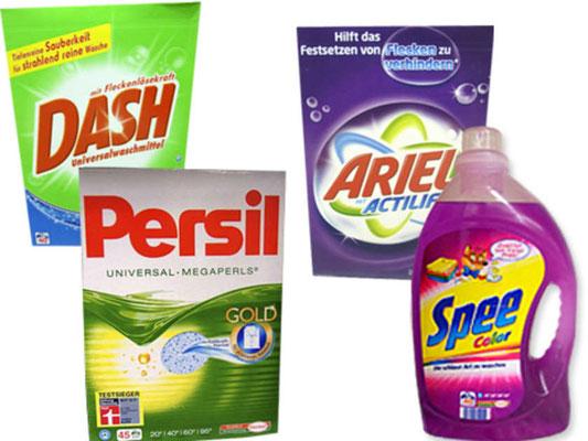 Waschmittel, flüssig oder als Pulver