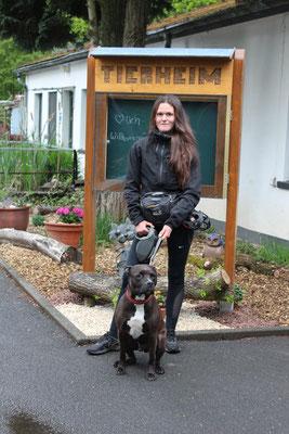 Leoni Weigerding, Tierpflege Hundebereich