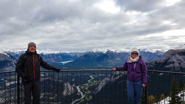 Aussicht vom Sulphur Mountain in Banff