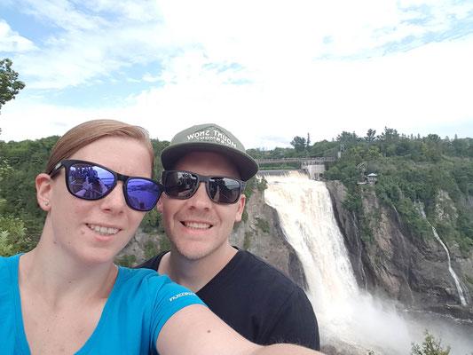 Wasserfall in der Nähe von Quebec