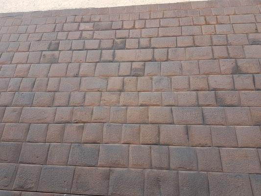 Mauer, gebaut von den Inkas