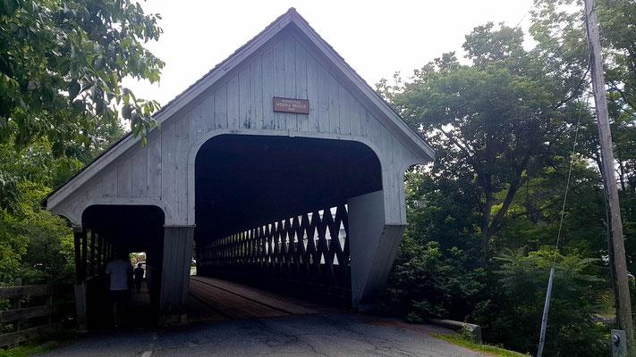 Einer der unzähligen überdachten Brücken (Woodstock)