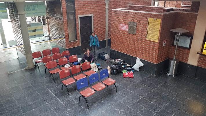 Das grosse Umpacken vor der Abreise nach Sucre