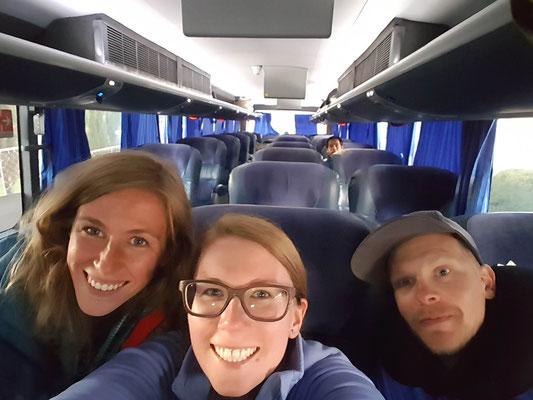 Wir hatten den Bus fast für uns alleine