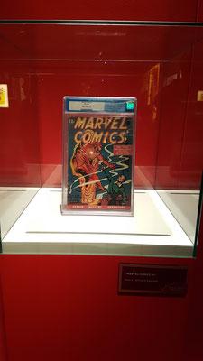 Marvel Ausstellung. Der Wert dieser Erstausgabe stand leider nicht dran. Wäre noch interessant gewesen.