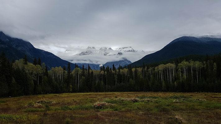 Mount Robson. Höchster Berg (3954m) der kanadischen Rockies.