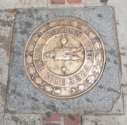 Der Feedom Trail leitet durch die Stadt zu den wichtigsten Sehenswürdigkeiten