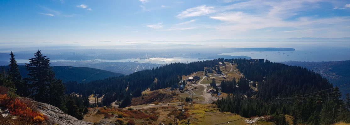 Aussicht auf Vancouver City vom Grouse Mountain