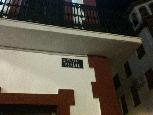 Minuit, départ Plaza de España