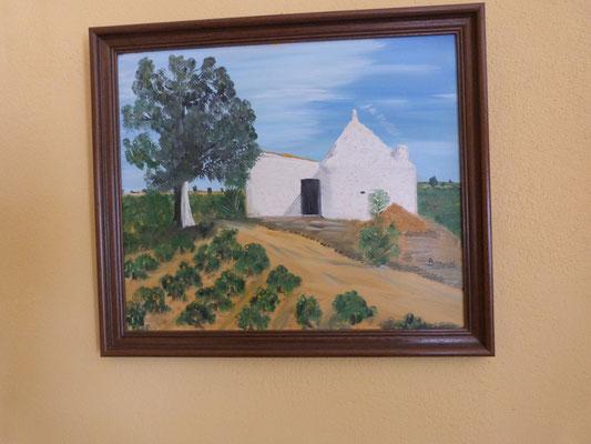 Le chozo avait à l'origine une petite maison sur le côté pour les animaux