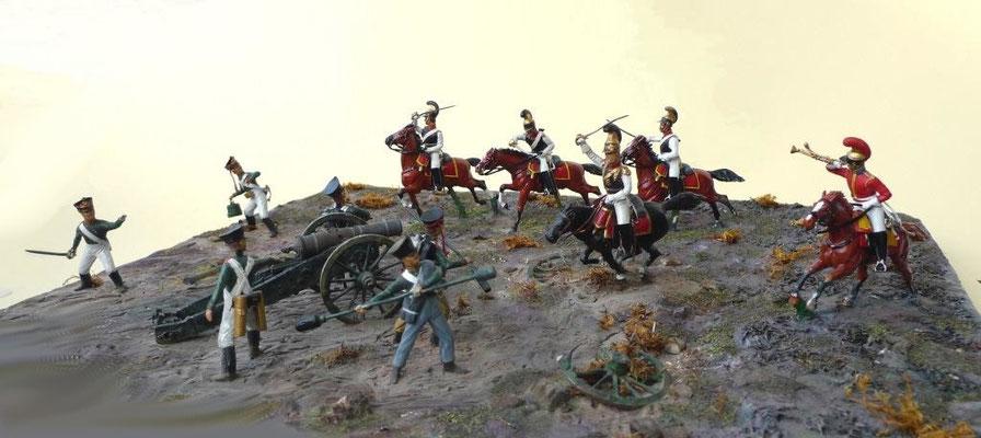 Leib-Garde Fußartillerie bei Wachau, den 16. Oktober 1813