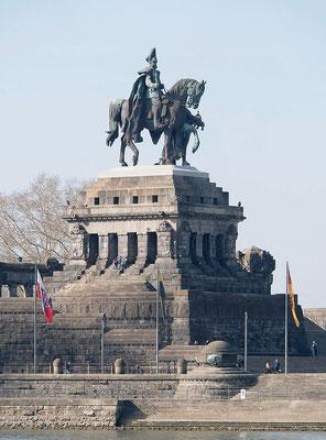 Kaiser-Wilhelm I.- Denkmal am Deutschen Eck, Koblenz am Rhein und Mosel