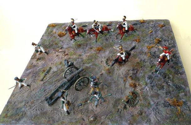 Schlacht bei Wachau, 16. Oktober 1813 / Dioramen-Ausschnitt