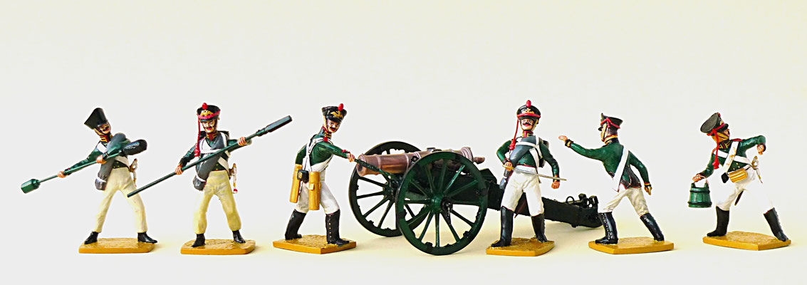 Garde Fußartillerie, Russland 1812 - 1815
