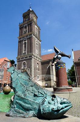 140606_RAW7944 Coesfeld, Am Markt mit Lamberti-Kirche