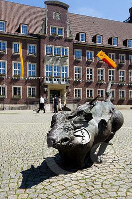 140606_RAW7953 Coesfeld, Am Markt mit Altem Rathaus
