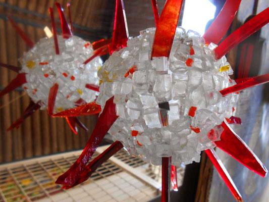 coronavirus, covid 19, Oursin verres divers 26 cm diamètre 2020