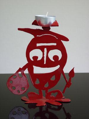 Glottino pittore - Colore: Rosso - Misure cm: