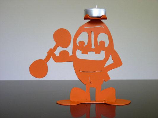 Glottino e body builder - Colore: Arancione - Misure cm: 15x19x6