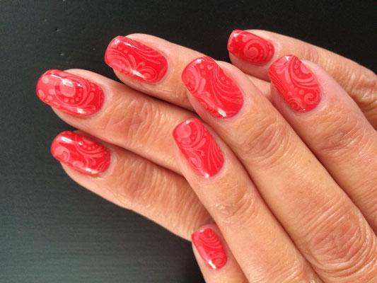 Nailart met Stamping op gelnagels