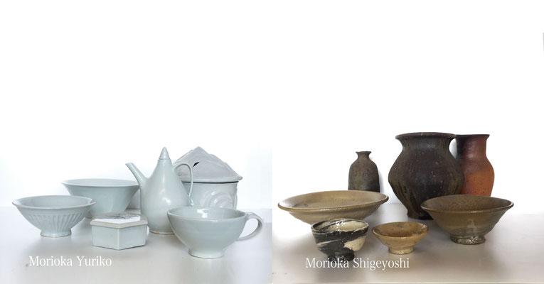 森岡成好・森岡由利子 薪窯の焼きもの展 4/14〜20