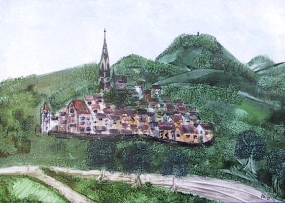 """""""Reutlingen im 17. Jahrhundert von Pfullingen aus"""", Keilrahmen 60 x70,  300 €"""