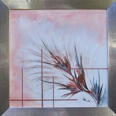 """""""Federblume"""", Keilrahmen 50 x 50, 280 €"""