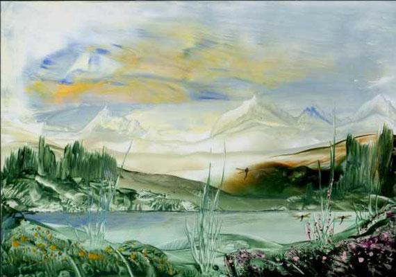 """""""Landscape"""", Malkarton A4, in Privatbesitz"""