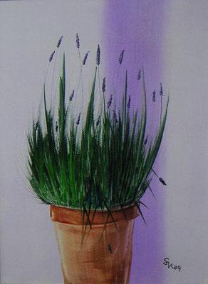 """Lavendel"", Keilrahmen 40 x 30, 190 €"