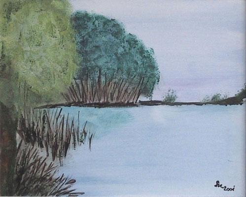 """""""Die Bucht"""", Keilrahmen 50 x 60, 150 €"""