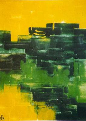 """""""Cityface"""", Malplatte 50 x 60, in Privatbesitz"""