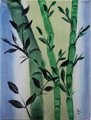 """""""Bambus"""", Malplatte 50 x 40, gestiftet für die Auktion """"Künstler für die Ahrensburger Tafel e.V., 2011"""""""