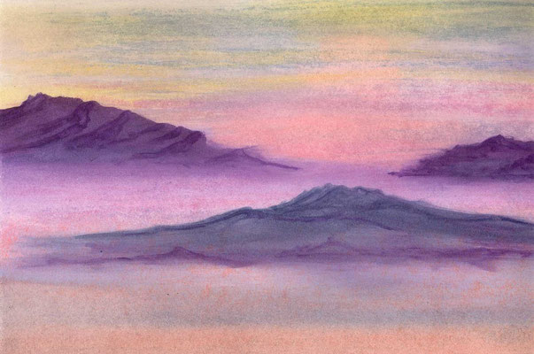 """Landscape-Aquarell"", auf Aquarellpapier, 110 €"