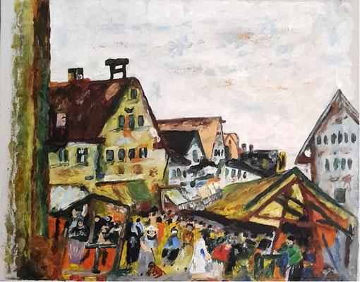 Markt Diessen am Ammersee 1920 (nach Eugen Dekkert)
