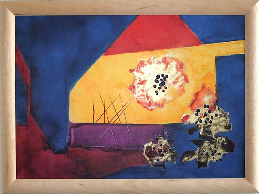 """""""Schwarze Fabrik"""", Malplatte 50 x 70, 240 €"""