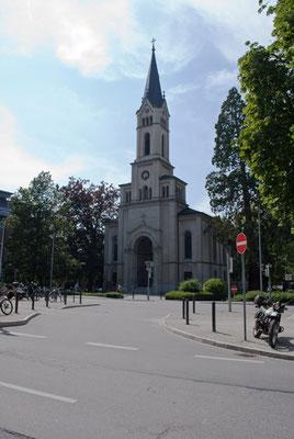 Lutherkirche Konstanz Lutherplatz und Laube