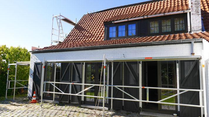 Rénovation d'une toiture en tuiles