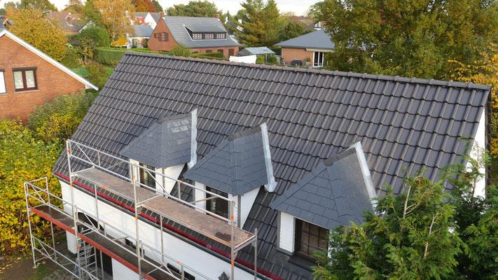 Réalisation d'une nouvelle toiture en tuile dans le Brabant Wallon