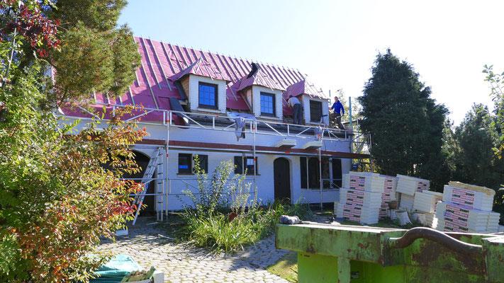 Rénovation et isolation d'une villa en Brabant Wallon