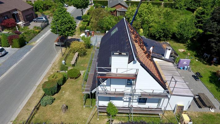 Nouvelle toiture en Eternit à Braine-l'Alleud