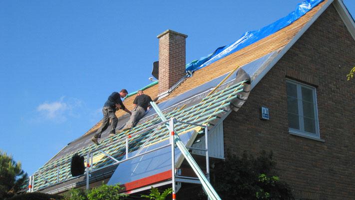 Réalisation d'une toiture isolée par l'extérieur