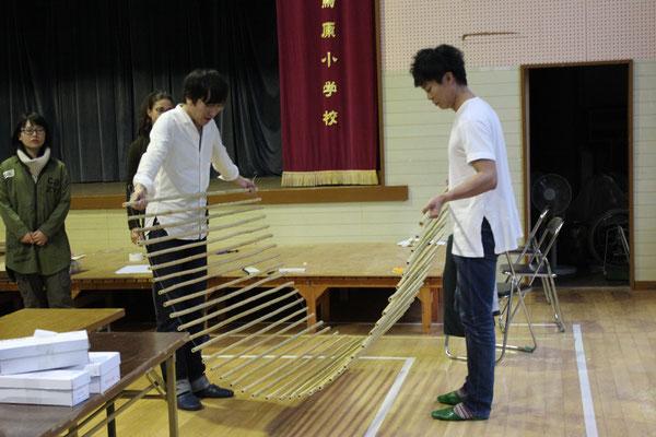 DIY・竹すだれ作り