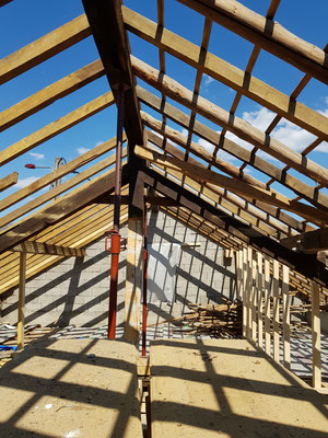 der abgeräumte Dachstuhl