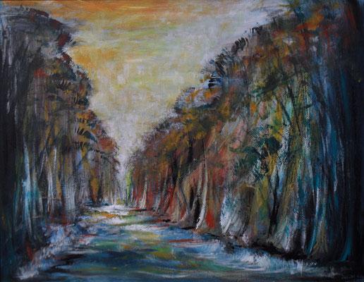 Wald und Fluß 60x47