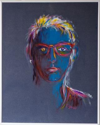 Selbstporträt mit ... 40x50