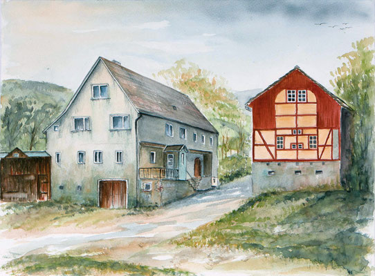 Alte Mühle/Bäckerei in Lübau 36x48