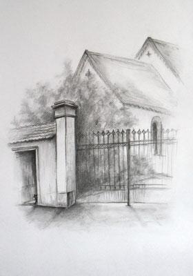 Tor zur Nicolaikirche in Dipp. 42x60