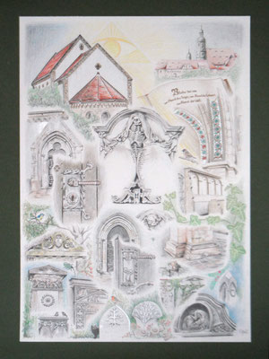 Friedhof in Dipp. 42x60