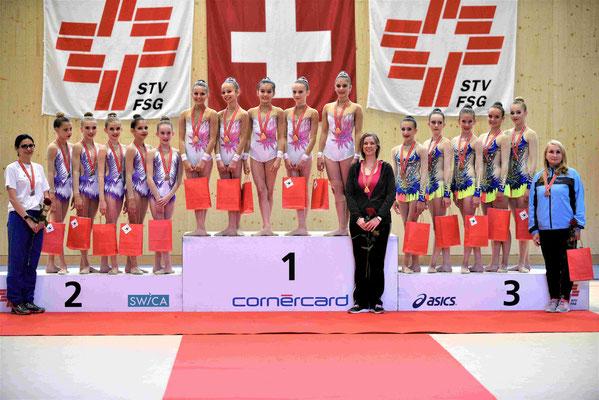 GOLD G2: Felicia, Livia, Axelle, Analena, Lou-Ann (Foto: Marco Lauper)